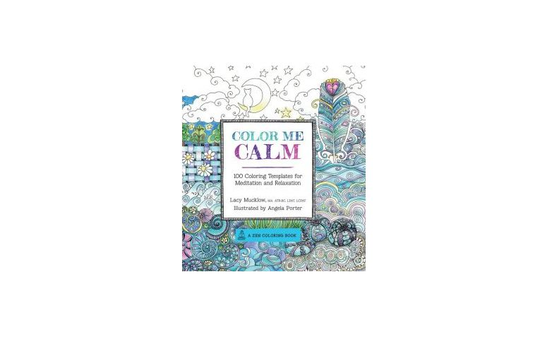 "Color me Calm por US$12,89 na <a href=""http://www.amazon.com/Color-Calm-Templates-Meditation-Relaxation/dp/1937994775"" target=""_blank"">Amazon</a>"