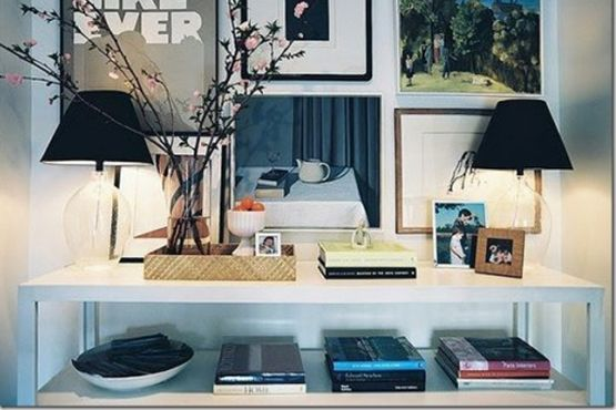 Aproveite seus exemplares preferidos como parte da decoração
