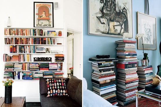 Na vertical ou horizontal, os livros podem ser acomodados da forma que desejar