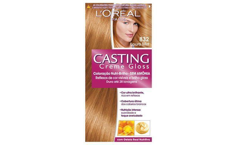 """Tintura Casting Creme Gloss Louro Mel 832 por R$18,90 na <a href="""" http://www.lojasrede.com.br/produto/Tintura-Casting-Creme-Gloss-Louro-Mel-832-122283"""" target=""""_blank"""">Lojas Rede</a>"""