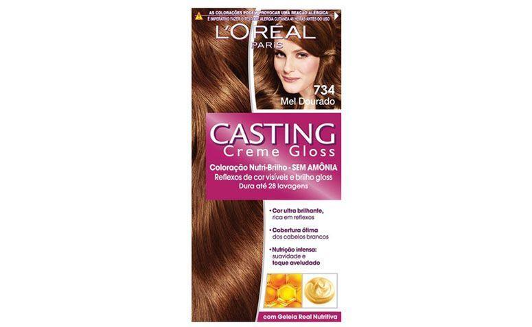 """Tintura Casting Creme Gloss Mel Dourado 734 por R$18,50 na <a href="""" http://www.lojasrede.com.br/produto/Tintura-Casting-Creme-Gloss-Louro-Mel-832-122283"""" target=""""_blank"""">Lojas Rede</a>"""