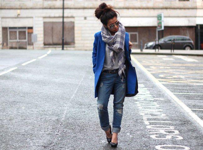 "Foto: Reprodução / <a href=""http://www.article21.co.uk/2014/02/primark-blue-coat-ripped-boyfriend-jeans.html"" target=""_blank"">Article 21</a>"