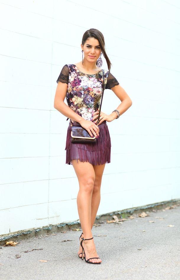 """Foto: Reprodução / <a href=""""http://camilacoelho.com/2014/09/01/look-do-dia-body-floral-e-franjas/"""" target=""""_blank"""">Camila Coelho</a>"""