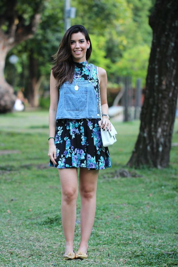 """Foto: Reprodução / <a href=""""http://www.garotasestupidas.com/look-do-dia-floral-e-jeans/"""" target=""""_blank"""">Garotas Estúpidas</a>"""