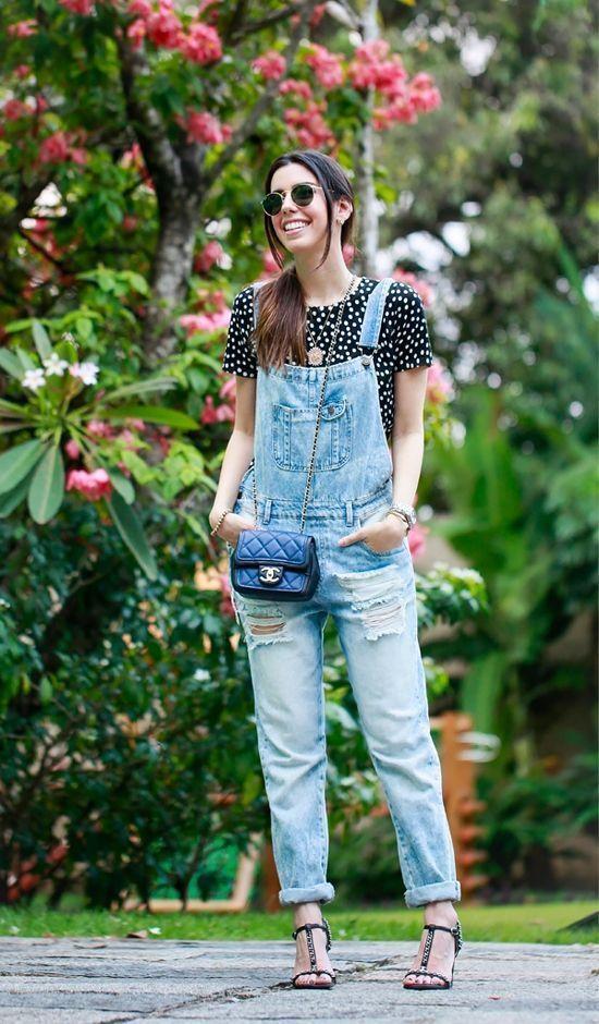 """Foto: Reprodução / <a href=""""http://www.garotasestupidas.com/look-do-dia-macacao-jeans/"""" target=""""_blank"""">Garotas Estúpidas</a>"""
