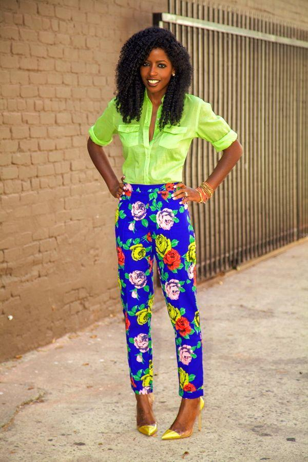 "Foto: Reprodução / <a href=""http://stylepantry.com/2013/09/19/safari-style-shirt-floral-pants/"" target=""_blank"">Style Pantry</a>"