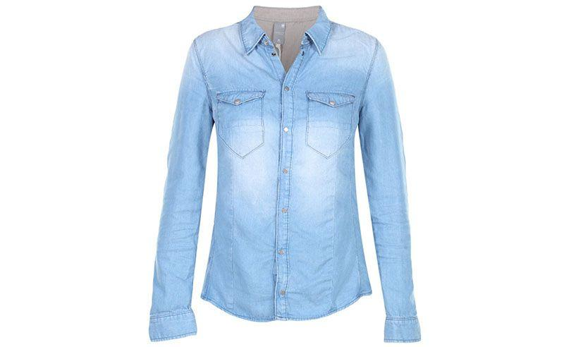 "Camisa jeans G-Star Raw por R$399 na <a href=""http://www.fashiondelivery.com.br/camisa-g-star-raw-tacoma-straight-shirt-wmn-azul-claro-200442/p"" target=""blank_"">Fashion Delivery</a>"