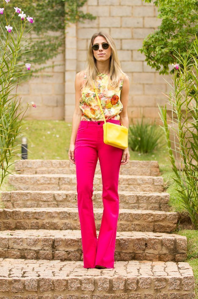 "Foto: Reprodução / <a href=""http://www.glam4you.com/meu-look-pink-yellow/"" target=""_blank"">Glam4you</a>"