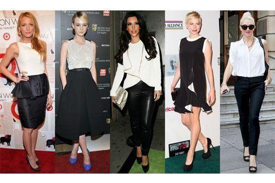 A clássica combinação entre o preto e branco garante um visual elegante e sofisticado.
