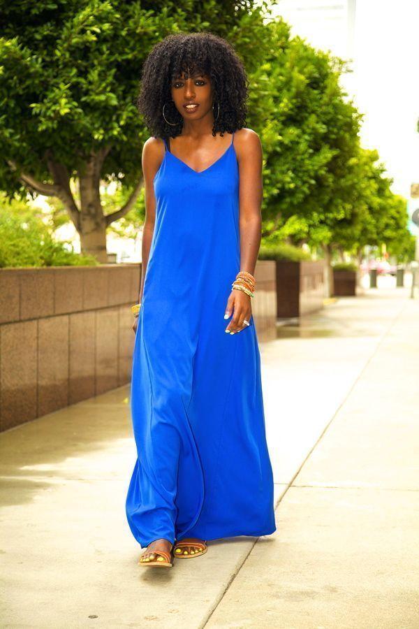 """Foto: Reprodução / <a href=""""http://stylepantry.com/2013/06/04/moto-vest-spaghetti-strap-maxi-dress/"""" target=""""_blank"""">Style Pantry</a>"""