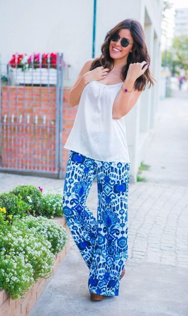 """Foto: Reprodução / <a href=""""http://blogcamilapeixer.com/look-do-dia-calca-pantalona/"""" target=""""_blank"""">Blog Camila Peixer</a>"""