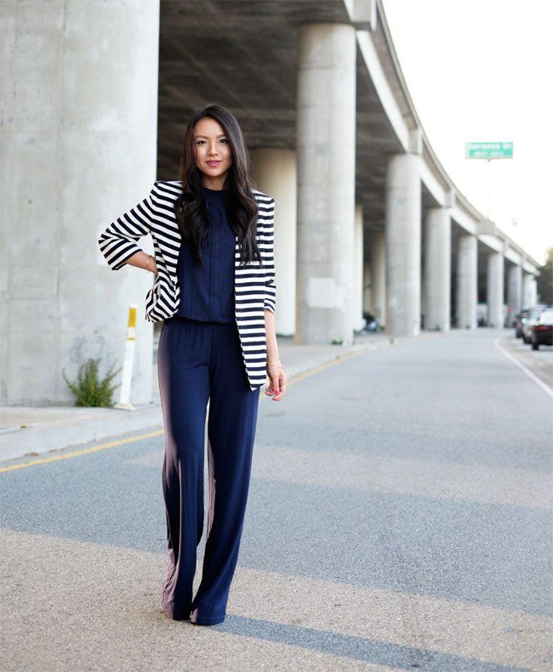 "Foto: Reprodução / <a href=""http://thefancypantsreport.com/2014/06/12/ootd-statement-zara-stripe-blazer-summer-outfit-san-francisco/"" target=""_blank"">The Fancy Pants Report</a>"
