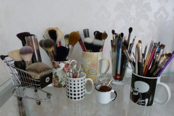 maneiras diferentes organizar itens maquiagem10 Maneiras diferentes para organizar os itens de maquiagem