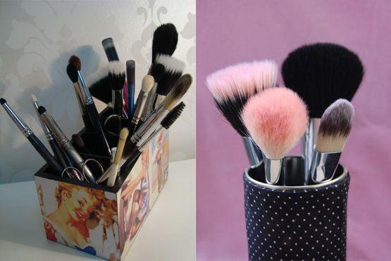 maneiras diferentes organizar itens maquiagem11 Maneiras diferentes para organizar os itens de maquiagem