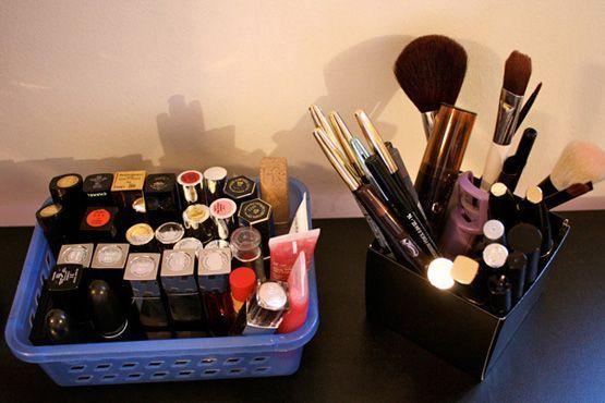 maneiras diferentes organizar itens maquiagem12 Maneiras diferentes para organizar os itens de maquiagem