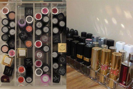 maneiras diferentes organizar itens maquiagem14 Maneiras diferentes para organizar os itens de maquiagem