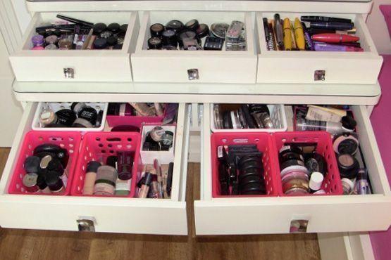 maneiras diferentes organizar itens maquiagem6 Maneiras diferentes para organizar os itens de maquiagem