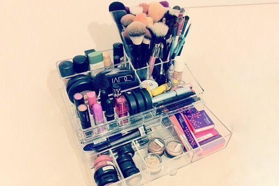maneiras diferentes organizar itens maquiagem9 Maneiras diferentes para organizar os itens de maquiagem