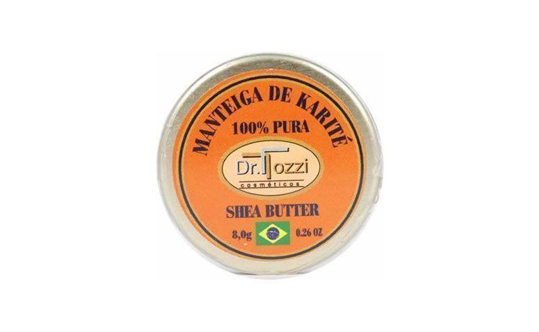 """Manteiga de karité 100% pura Dr. Tozzi por R$20,30 na <a href=""""http://www.drtozzi.com.br/manteigas?product_id=121"""" target=""""blank_"""">Dr. Tozzi</a>"""