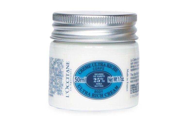 "Creme corporal ultrahidratante karité L'occitane por R$55 na <a href=""http://br.loccitane.com/creme-corporal-ultra-hidratante-karit%C3%A9-tamanho-viagem,43,2,4563,600226.htm"" target=""blank_"">L'occitane</a>"