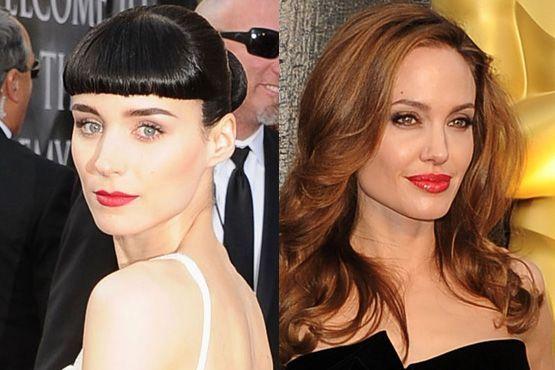 b Maquiagem e penteados do Oscar 2012