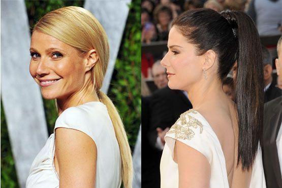 f Maquiagem e penteados do Oscar 2012
