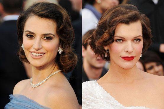 g Maquiagem e penteados do Oscar 2012