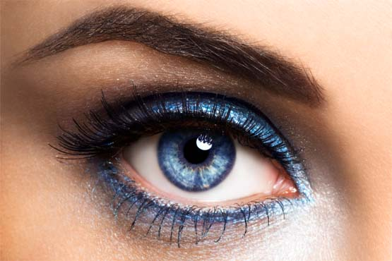 3 olho esfumado azul Maquiagem para a noite