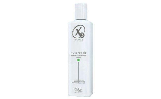 "Shampoo Doux Clair Nutt Repair por R$26,10 na <a href=""http://www.cabeleza.com.br/Doux-Clair-X3-Relaxer-Shampoo-Nutritivo-Nutt-Repair---Sem-Sal-300ml-224341.aspx/p"" target=""_blank"">Cabeleza</a>"