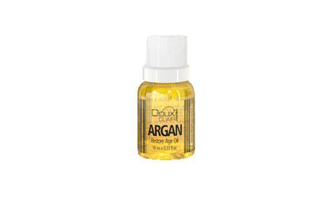"Óleo de Argan Doux Clair por R$6,40 na <a href=""http://douxclair.com.br/loja/effets-argan-restore-age-oil-10ml/"" target=""_blank"">Doux Clair</a>"