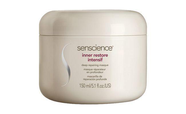 "Máscara Senscience por R$232 na <a href=""http://www.sephora.com.br/senscience/cabelos/mascara/mascara-reparadora-inner-restore-intensif-6322"" target=""_blank"">Sephora</a>"