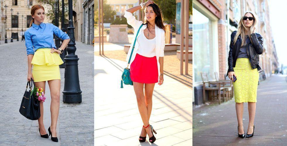 <p>Para incrementar um look de verão com saia aposte nas cores neon. Abuse dos diversos modelos de saia e ouse no look com cores fluo para o <strong>verão 2013</strong>.</p>