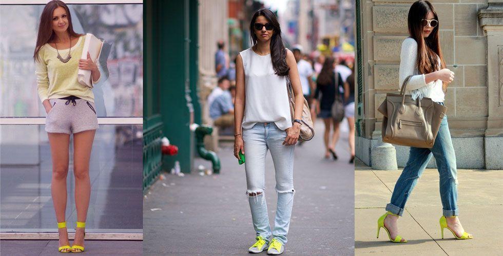 <p> Assim como os acessórios, o sapato também é uma ótima opção para estar por dentro da <strong>moda neon</strong> sem exageros. Prefira os modelos mais confortáveis para o dia-a-dia e reserve o salto alto para eventos especiais. </p>
