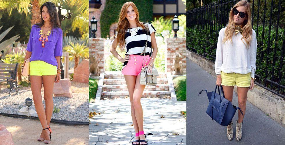 <p>O shorts é sem dúvida a peça mais usada no verão. Opte por peças leves e neutras para combinar com um shorts neon. A camisa branca pode ser uma excelente escolha. </p>