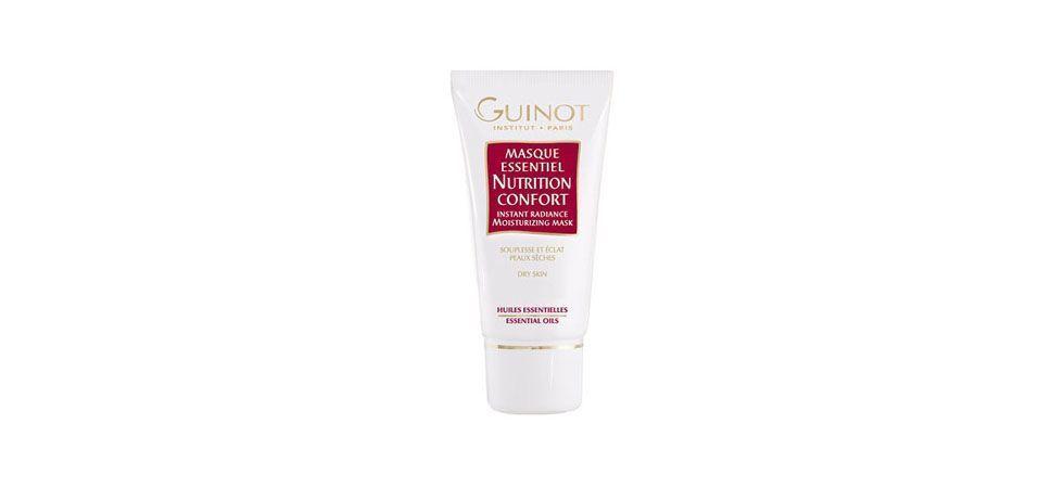 <p>O Masque Essentiel Nutrition Confort - Guinot (US$34) é um creme de recuperação facial noturno. É um ótimo produto para ser adicionado à sua nécessaire, pois além de deixar a pele radiante e livre do estresse o creme ajuda a pele a enfrentar as diversas variações climáticas.</p>