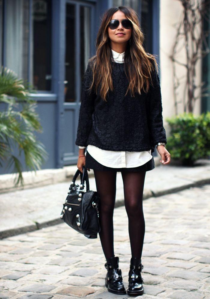 86357807d8675 Como combinar meia-calça com o sapato no look