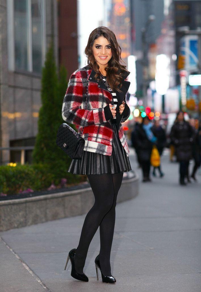"""Foto: Reprodução / <a href=""""http://camilacoelho.com/2014/01/23/look-do-dia-xadrez-e-listras/"""" target=""""_blank"""">Camila Coelho</a>"""