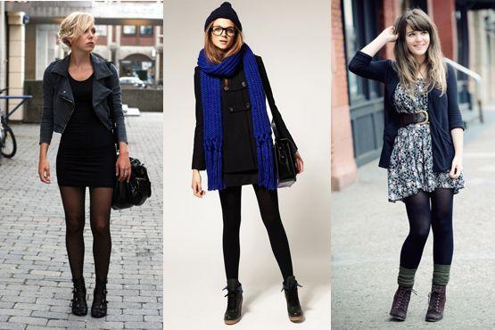 meia preta2 Meia calça preta é peça chave para os dias frios