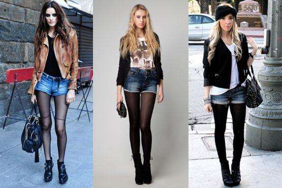 meia preta3 Meia calça preta é peça chave para os dias frios