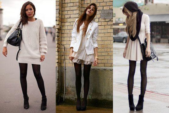 meia preta4 Meia calça preta é peça chave para os dias frios