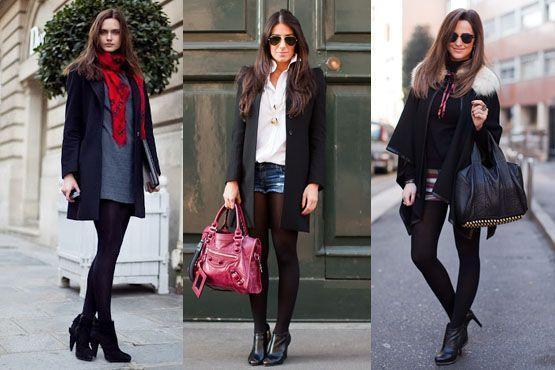meia preta6 Meia calça preta é peça chave para os dias frios