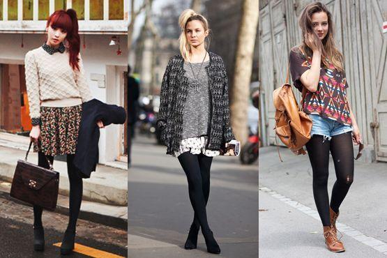 meia preta9 Meia calça preta é peça chave para os dias frios