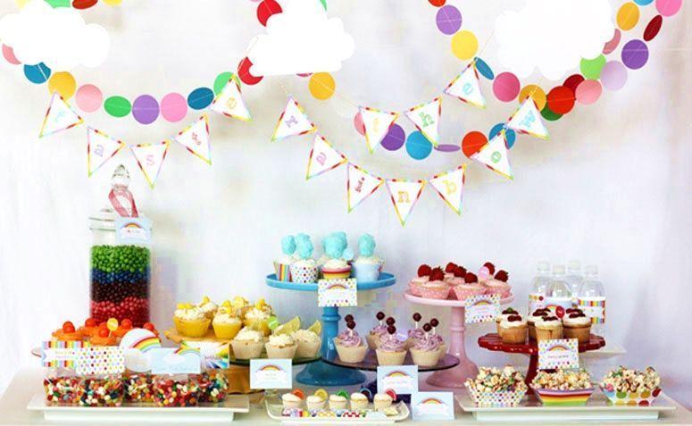 "Foto: Reprodução / <a href=""http://wantsandwishesdesign.blogspot.com.br/2012/02/taste-rainbow-birthday-party.html"" target=""_blank"">Wants and Wishes</a>"