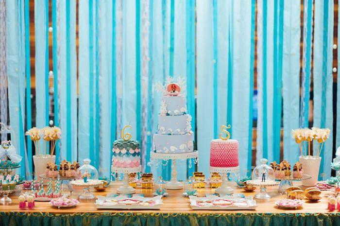 "Foto: Reprodução / <a href=""http://www.karaspartyideas.com/2015/07/mermaid-birthday-party-5.html"" target=""_blank"">Kara's Party Ideas</a>"