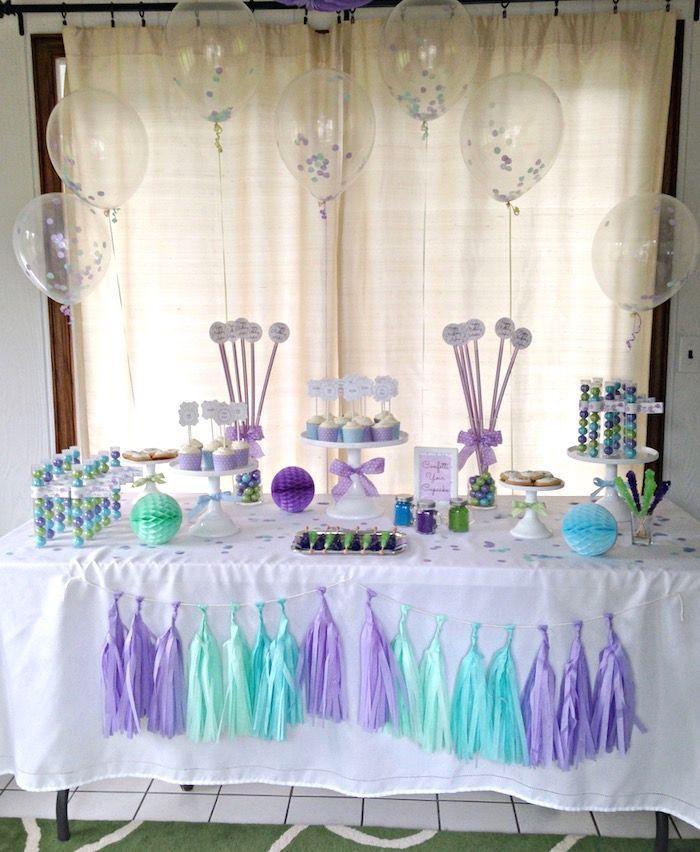 "Foto: Reprodução / <a href=""http://www.karaspartyideas.com/2015/07/confetti-themed-12th-birthday-party.html"" target=""_blank"">Kara's Party Ideas</a>"