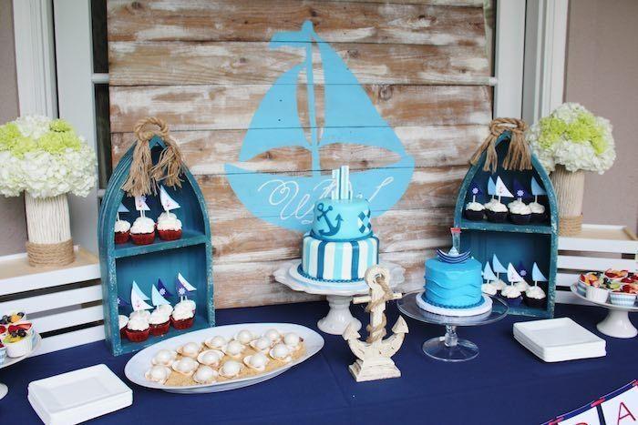 "Foto: Reprodução / <a href=""http://www.karaspartyideas.com/2015/07/nautical-1st-birthday-party-3.html"" target=""_blank"">Kara's Party Ideas</a>"