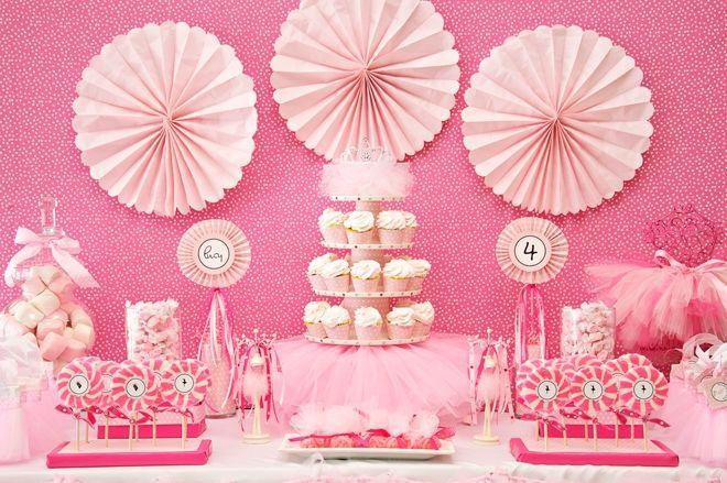 "Foto: Reprodução / <a href=""http://pizzazzerie.com/parties/childrens-parties/pink-ballerina-birthday-party/"" target=""_blank"">Pizzazzerie</a>"