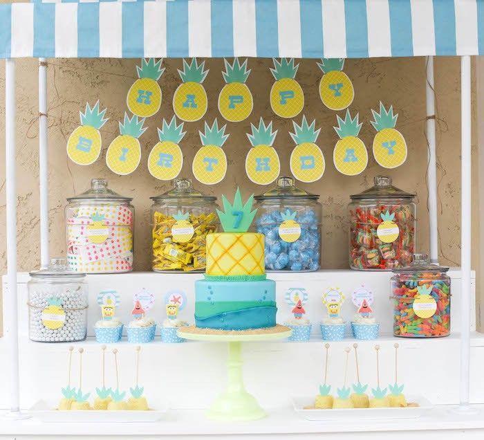 "Foto: Reprodução / <a href=""http://www.petitepartystudio.com/2015/07/spongebob-squarepants-inspired-birthday-party/"" target=""_blank"">Petit Party Ideas</a>"