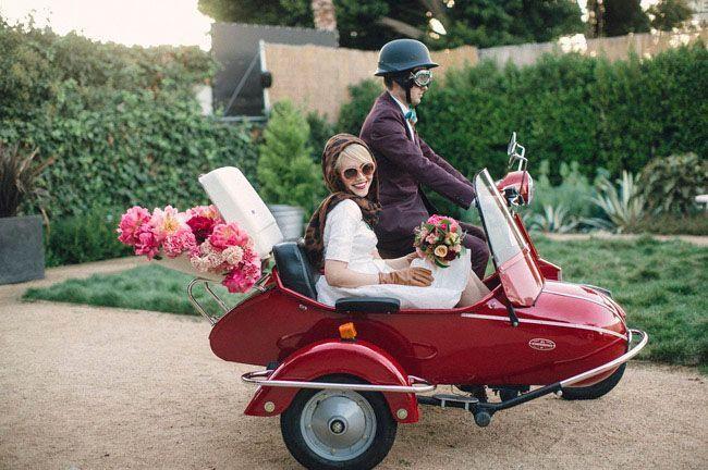 """Foto: Reprodução / <a href=""""http://greenweddingshoes.com/retro-mod-moto-wedding-inspiration/"""" target=""""_blank"""">Green wedding shoes</a>"""