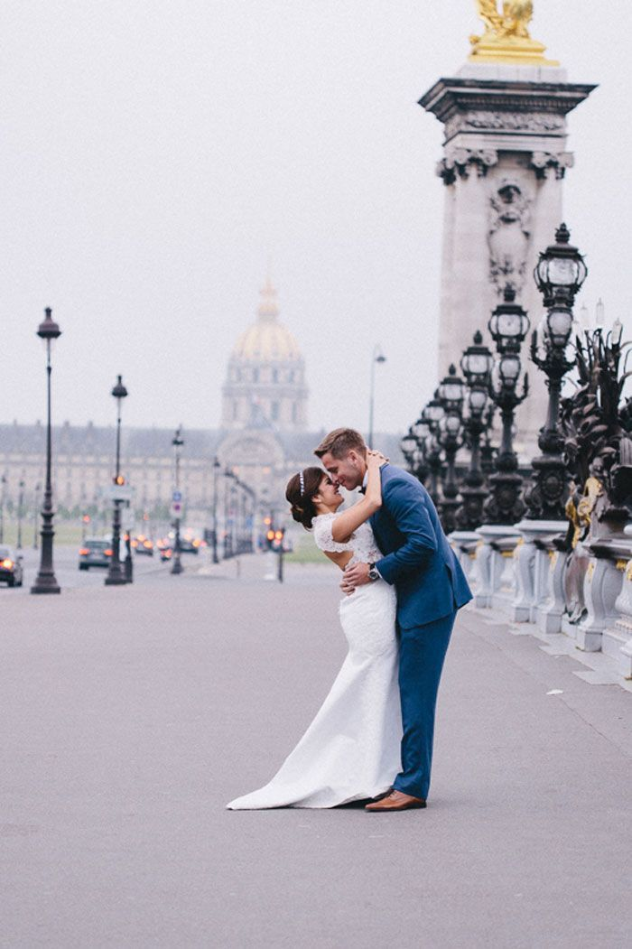 "Foto: Reprodução / <a href=""http://www.greylikesweddings.com/real-weddings/by-style/romantic/tala-nicole-photography-paris-elopement-ready/"" target=""_blank"">Grey Likes Weddings</a>"
